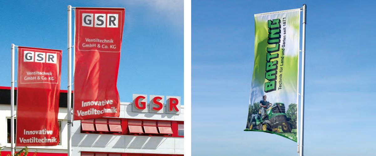 Werbeflaggen Digitaldruck